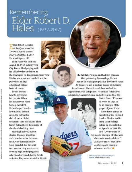 Remembering Elder Robert D. Hales