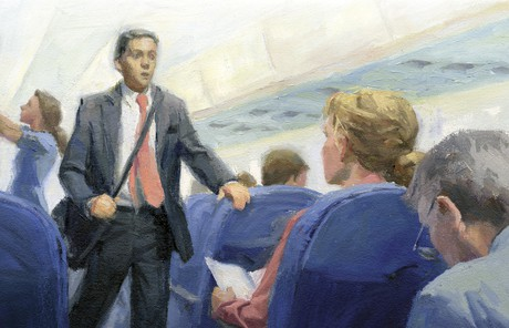 missionary on plane