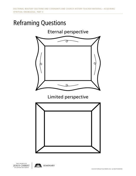 handout, Reframing Questions