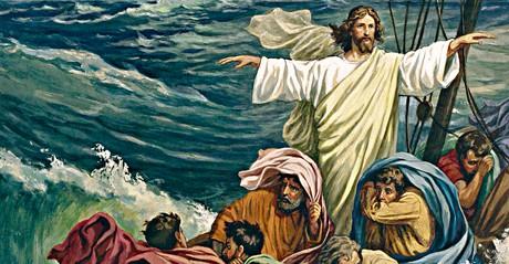Jesus Christ calming the sea