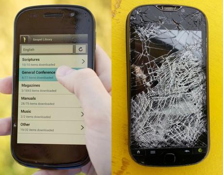 working and broken cell phones