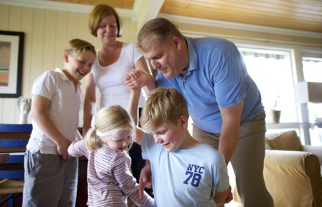 Christian Karlsson and family