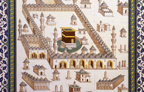 mosaic of Kaaba in Mecca