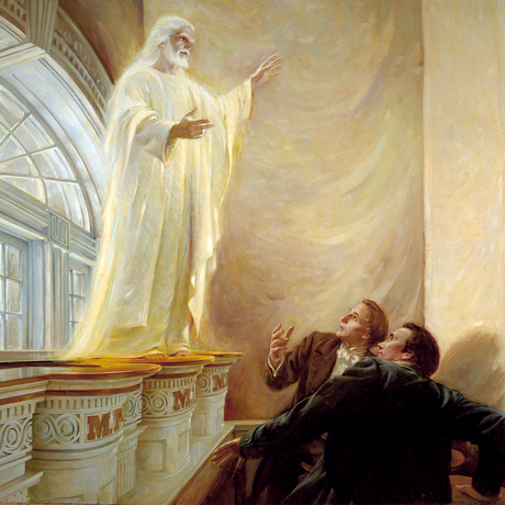 Jesus Christ appears to Joseph Smith and Oliver Cowdery in the Kirtland Temple