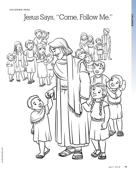 follow jesus coloring pages - photo#24