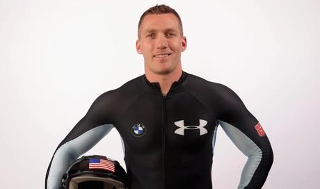 Chris Fogt holding helmet