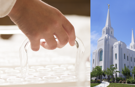sacrament tray; Brigham City Utah Temple