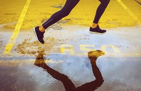 legs of someone running