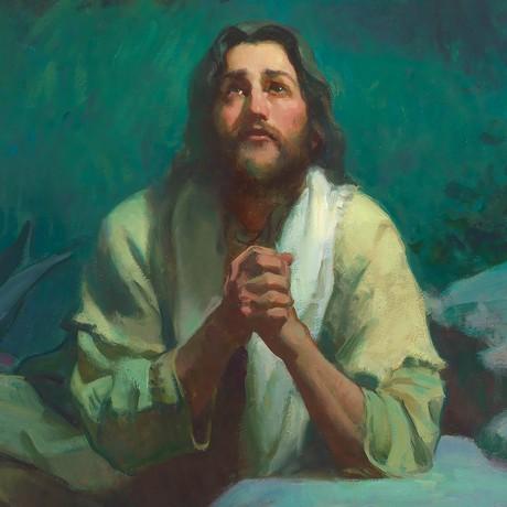 Jesus Christ praying in Gethsemane