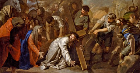 Jesus bearing cross