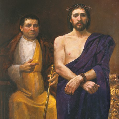 Jesus Christ with Pilate