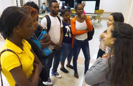 Missionaries teaching Spanish