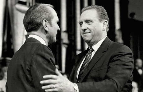President Russell M. Nelson and President Thomas S. Monson