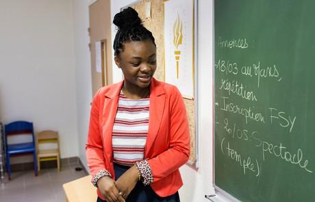 Young woman teaching