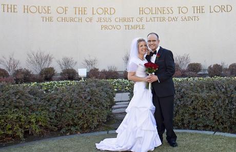 Rod a Kim v den své svatby