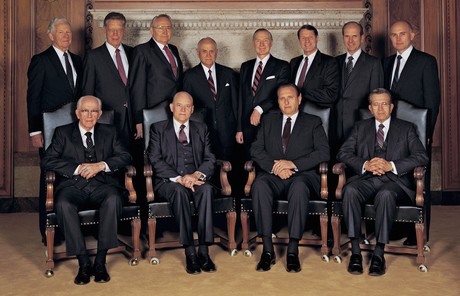 Russell M. Nelson with other members of the Quorum of the Twelve Apostles