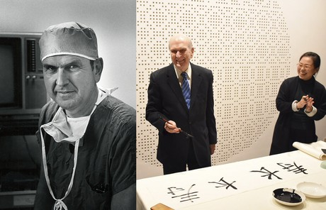 Russell M. Nelson as a doctor and during a visit to China