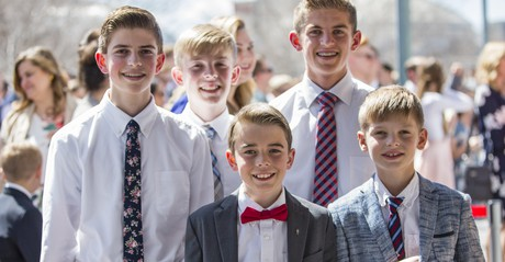young men at general conference