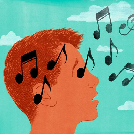 boy and music