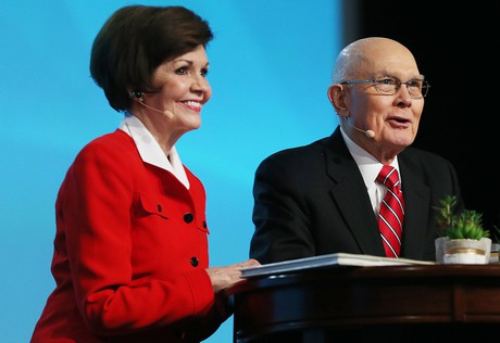 President Dallin H. Oaks and Kristen M. Oaks at RootsTech conference
