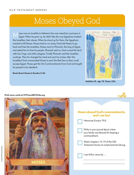 a cut-out card of Moses