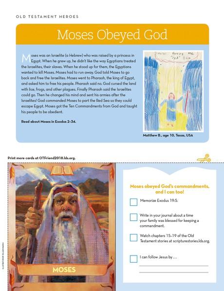 Moses Obeyed God - friend
