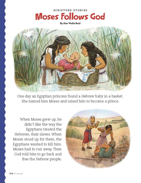 story of Moses, page 1