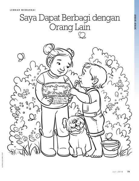 Gambar Lembar Mewarnai Liahona Coloring Page Gambar Anak Kristen