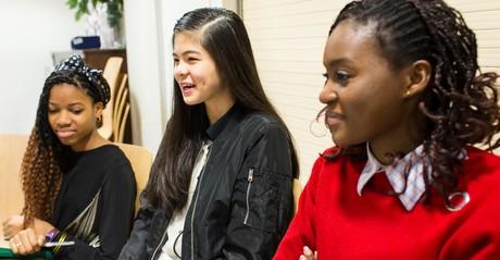 young women at church