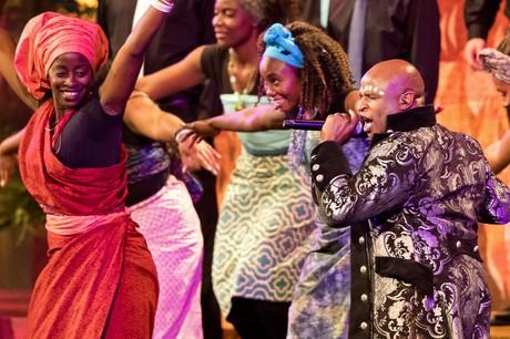 people performing