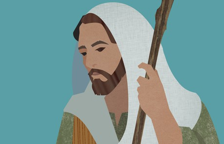 illustration of Savior holding a staff