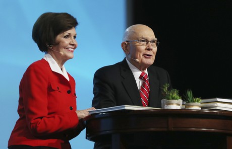 President Oaks with wife, Kristen