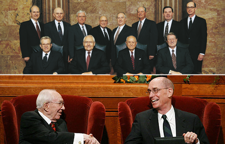 President Eyring with President Hinckley