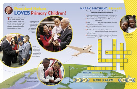 pictures of President Nelson with children around the world