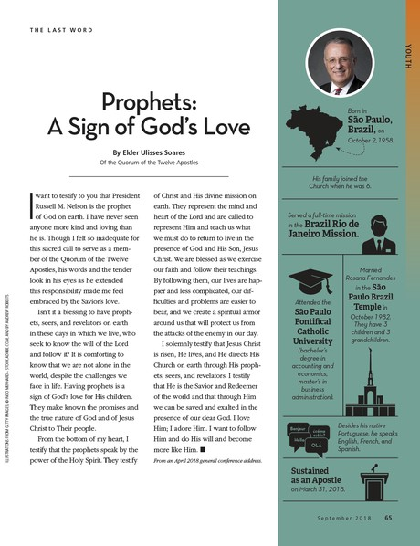 prophets a sign of Gods love