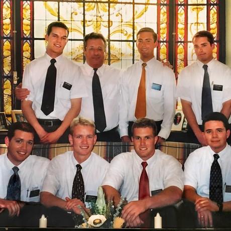 Elder Soares with missionaries