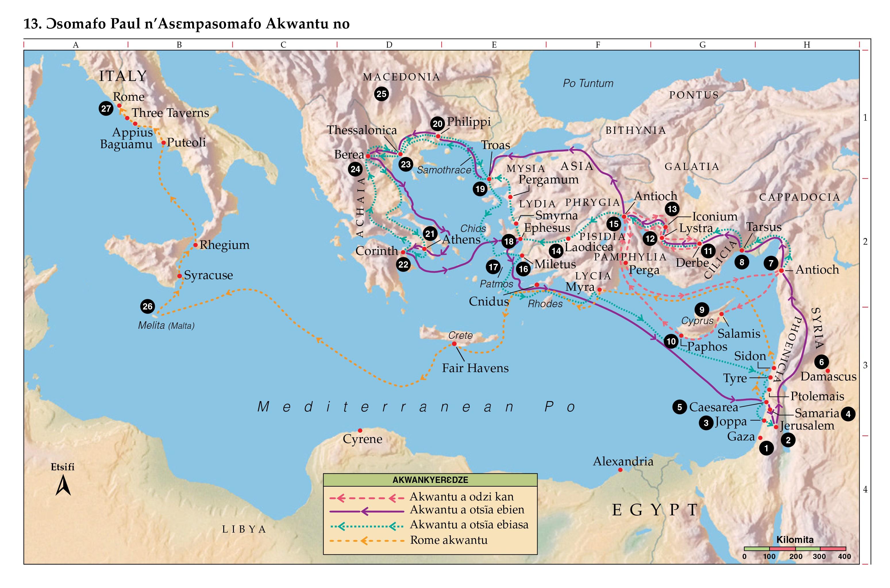 Bible Map Horow