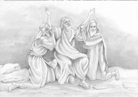 Moses, Aaron, and Hur