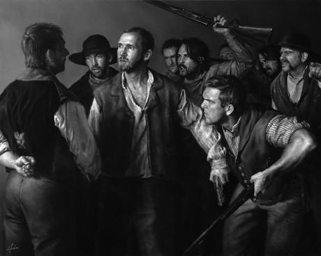 Joseph with militiamen