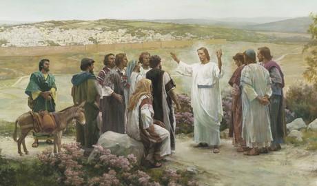 resurrected Christ teaching disciples