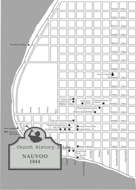 map, Nauvoo