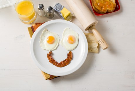 happy breakfast plate
