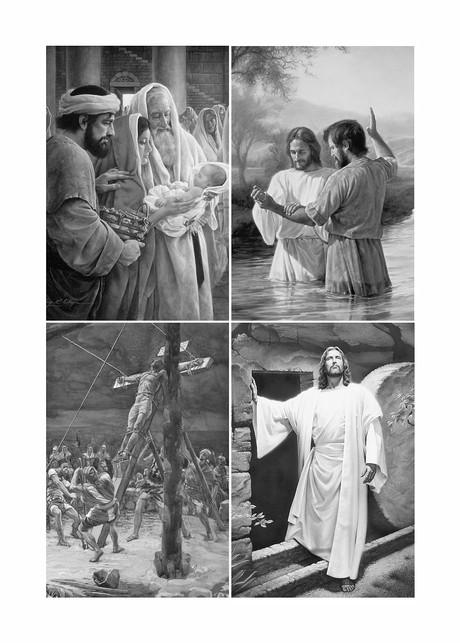 Colagem da Vida de Cristo