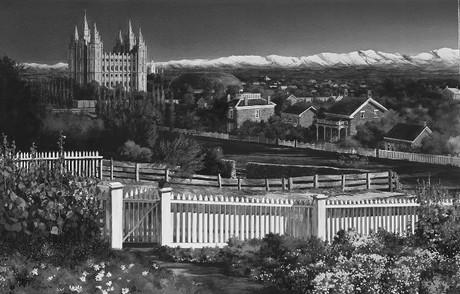 Salt Lake Temple area in 1894