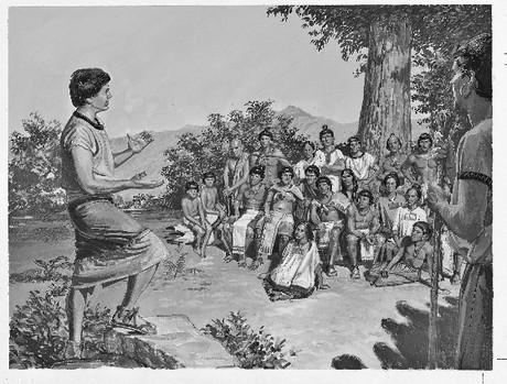 Aaron teaching people