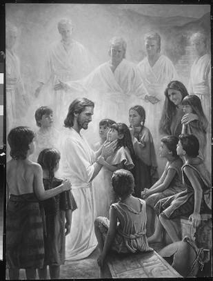 Christ with Nephite children