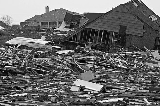 Destruction after hurricane