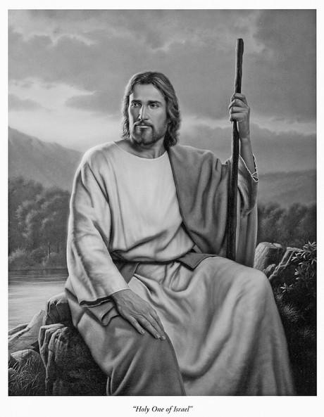 Christ holding shepherd's staff