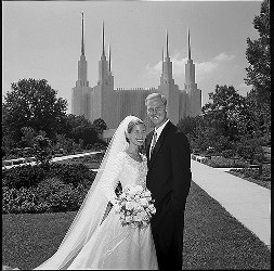 Young couple at Washington D.C. Temple