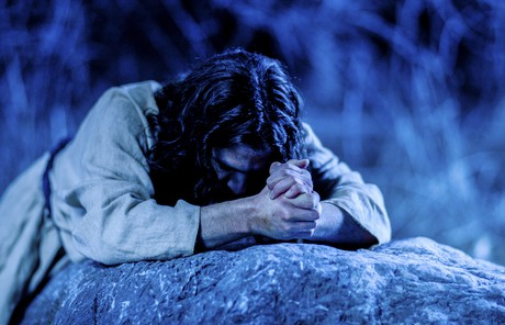 the Savior in Gethsemane